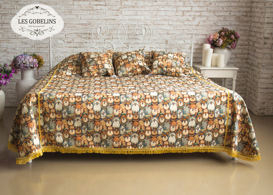 Детские покрывала, подушки, одеяла Les Gobelins Детское Покрывало на кровать Chiens (190х220 см)