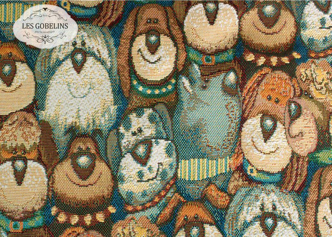 где купить Детские покрывала, подушки, одеяла Les Gobelins Детская Накидка на диван Chiens (140х200 см) по лучшей цене