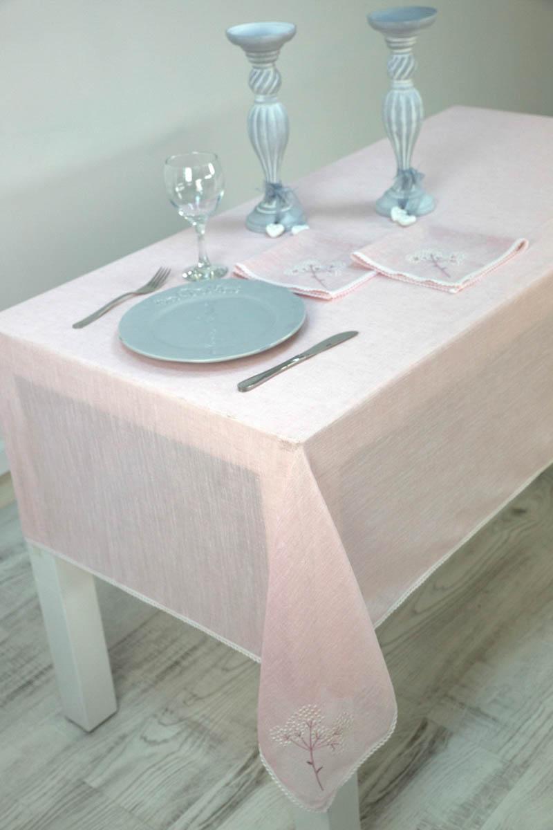 Скатерти и салфетки Arya Скатерть Yael Цвет: Пудра (150х220 см) цены онлайн