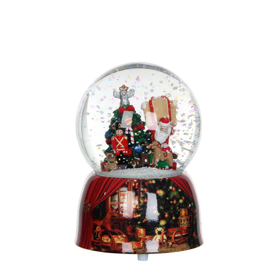 цены {}  Снежный шар Санта с подарками (10х14 см)