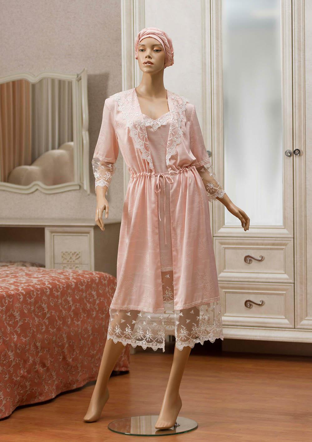 Домашние халаты Primavelle Домашний халат Lavole Цвет: Розовый (L-xL) домашние халаты vivien домашний халат funny l