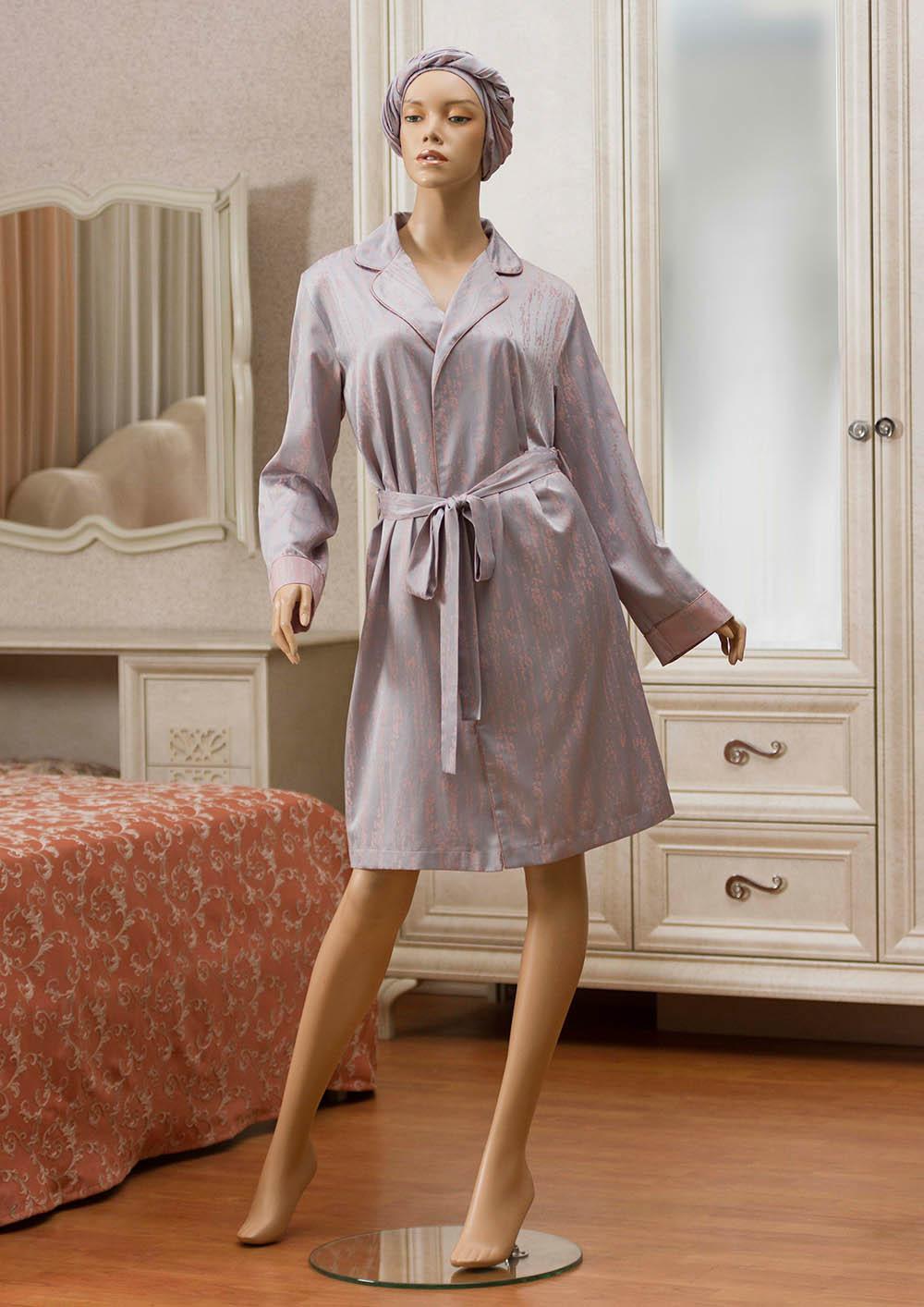 цены Домашние халаты Primavelle Домашний халат Ronico Цвет: Серо-Розовый (L-xL)