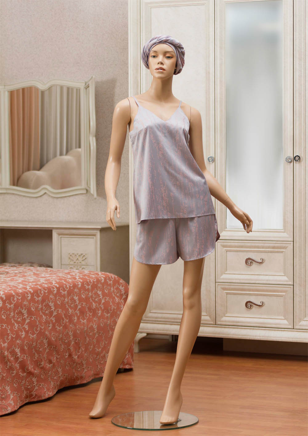 комплект мужской primavelle m diego Футболки Primavelle Одежда для дома Ronico Цвет: Серо-Розовый (M-L)