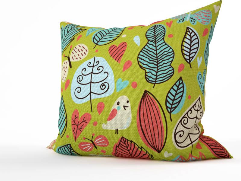 Декоративные подушки StickButik Декоративная подушка Сказочные Птахи (45х45)