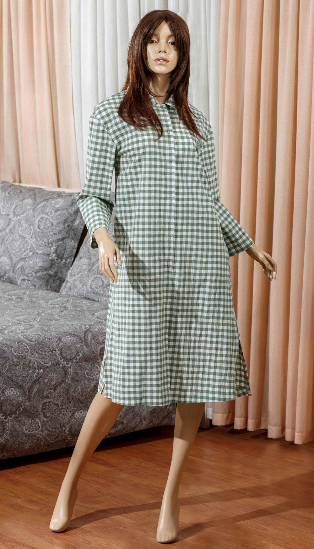 Домашние халаты Primavelle Домашний халат Vera Цвет: Зеленый (L-xL) домашние халаты vivien домашний халат funny l