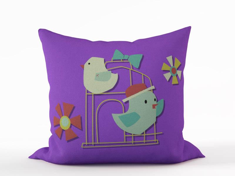 Декоративные подушки StickButik Декоративная подушка Птичий Домик (45х45) подушка декоративная рапира птичий базар 45 х 65 см