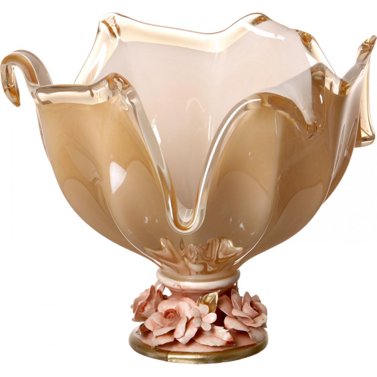 {} WHITE CRISTAL Ваза Deloris (30х35х35 см) ваза x lady 30 см crystal bohemia ваза x lady 30 см