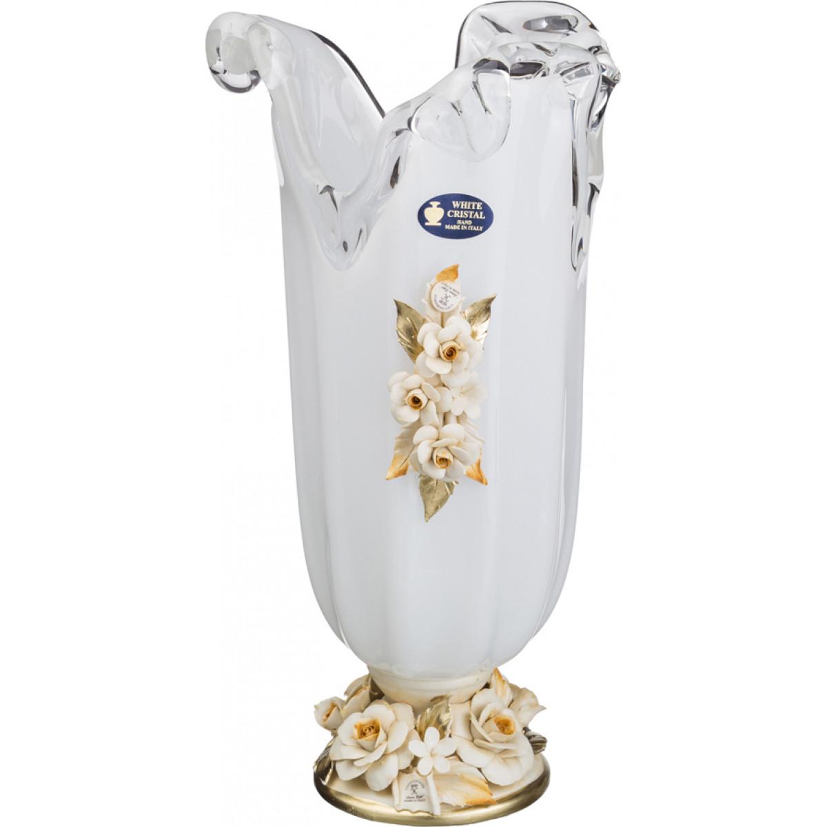 купить {} WHITE CRISTAL Ваза интерьерная Cucuta  (40 см) дешево