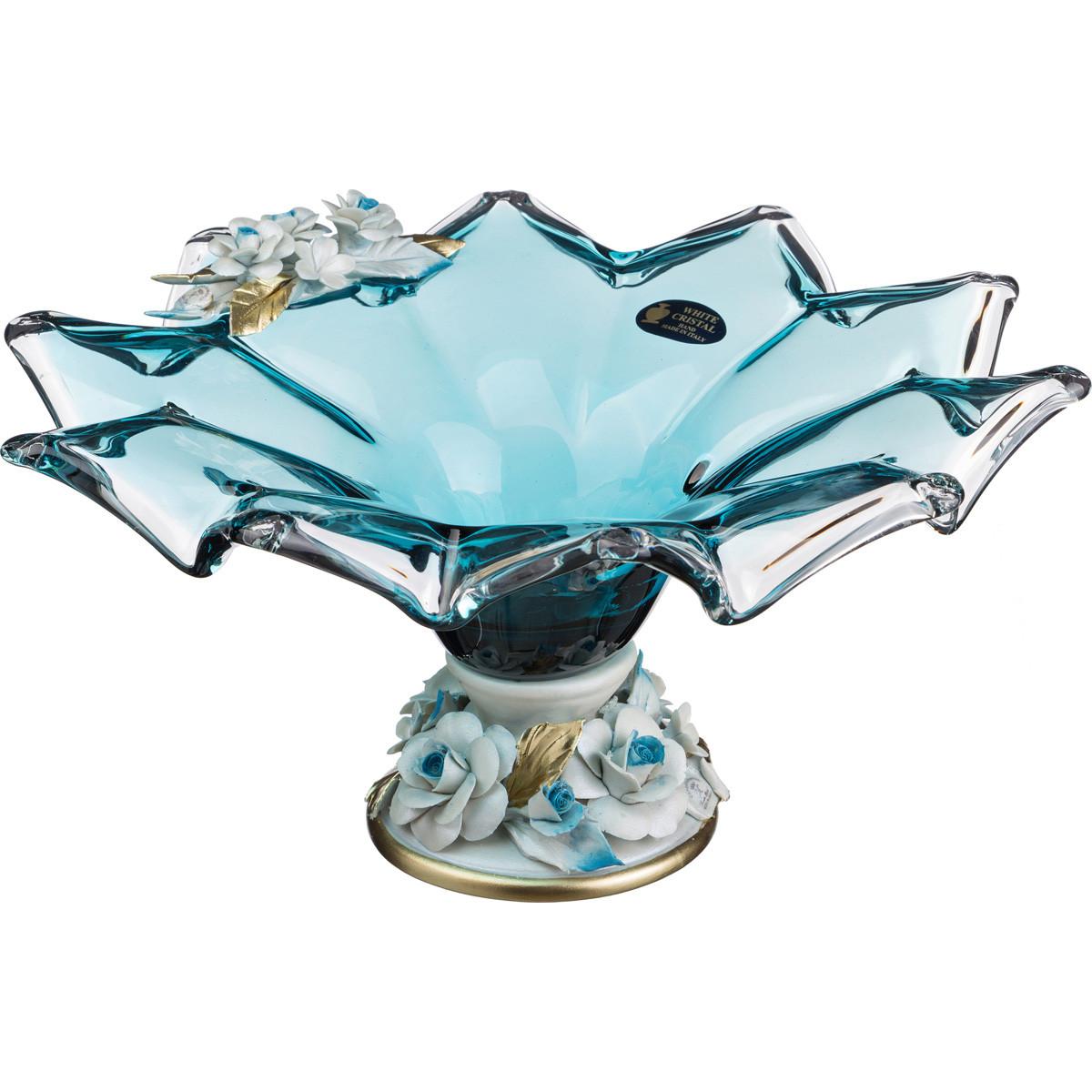 {} WHITE CRISTAL Ваза Dane (17х38 см) white cristal ваза dikla 15х17х25 см