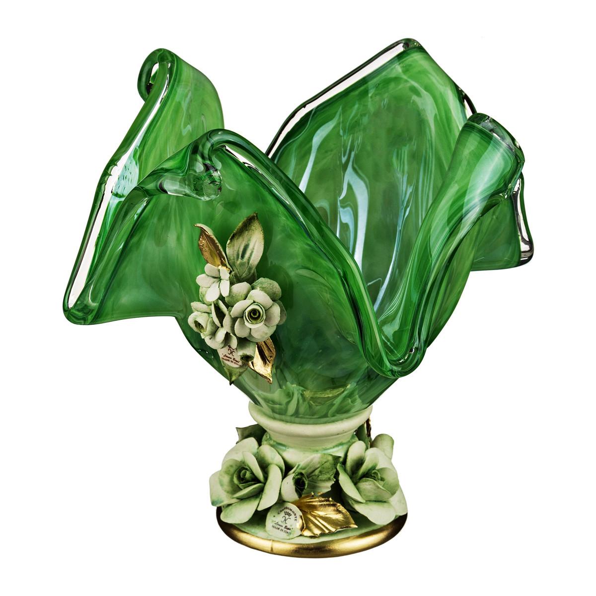 {} WHITE CRISTAL Ваза Ormonda (20х20х22 см) ваза arwa 20 х 20 х 30 см