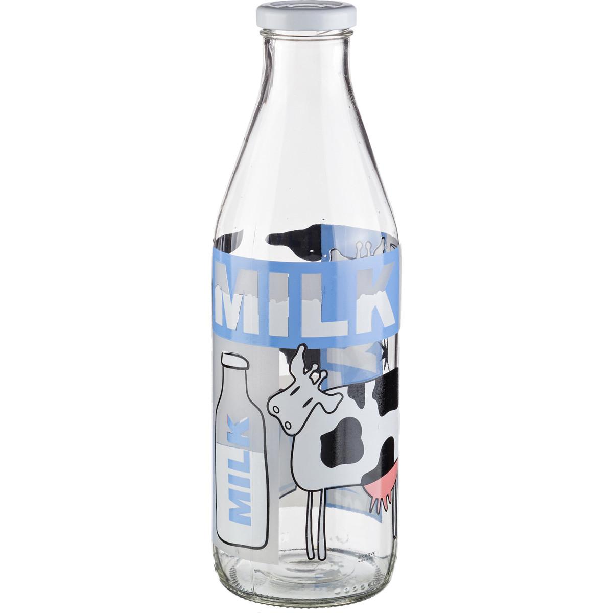 {} Cerve Бутылка для молока Beelzebub  (1000 мл) салатница cerve любимый кофе цвет прозрачный красный 690 мл