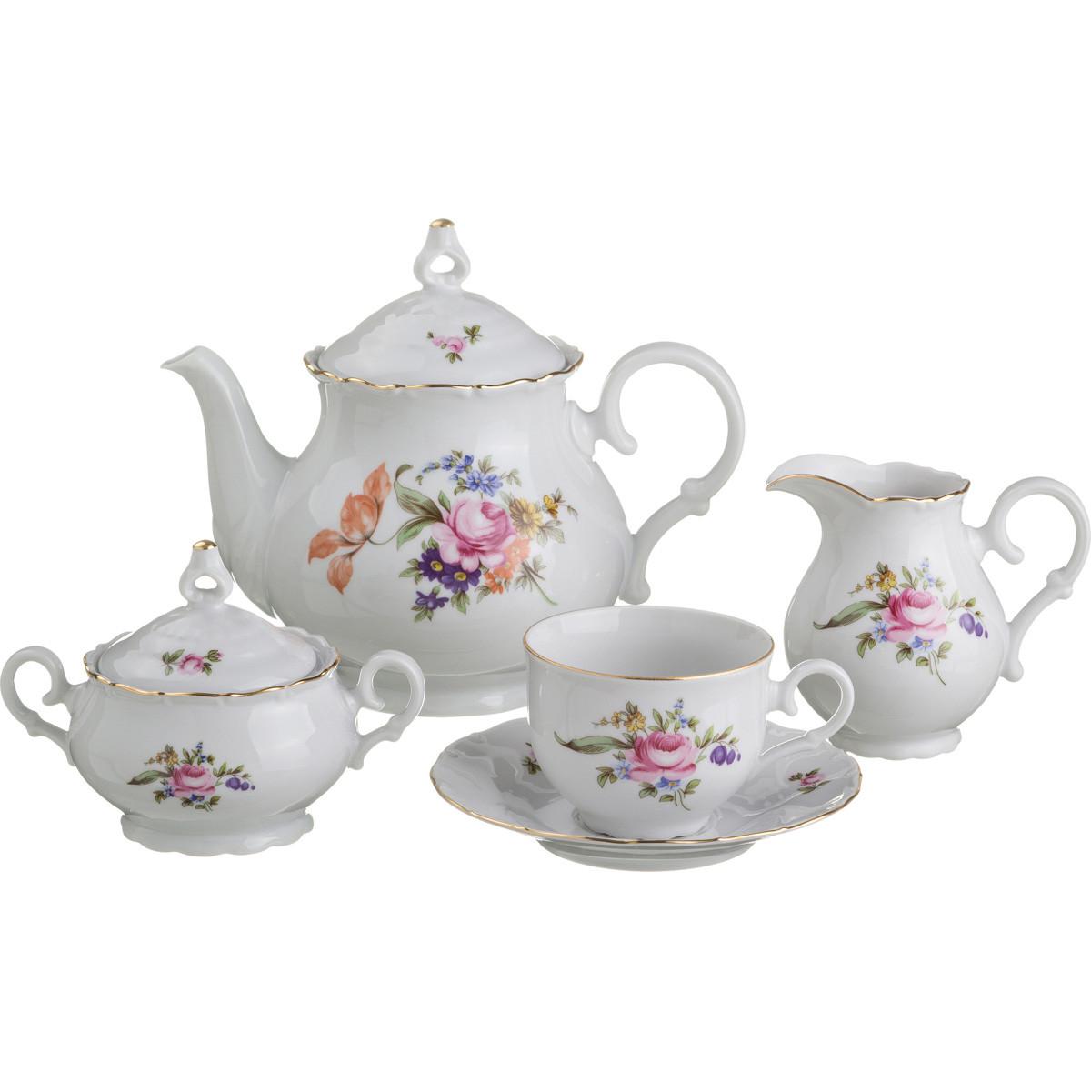 {} M.Z. Чайный сервиз Майсенский Букет (Набор) basilur чайный набор букет белое волшебство