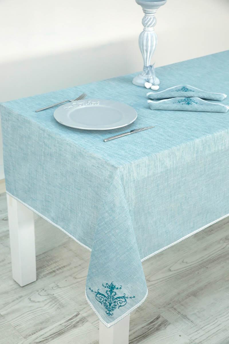 Скатерти и салфетки Arya Скатерть Sidal Цвет: Голубой (150х220 см) цены онлайн
