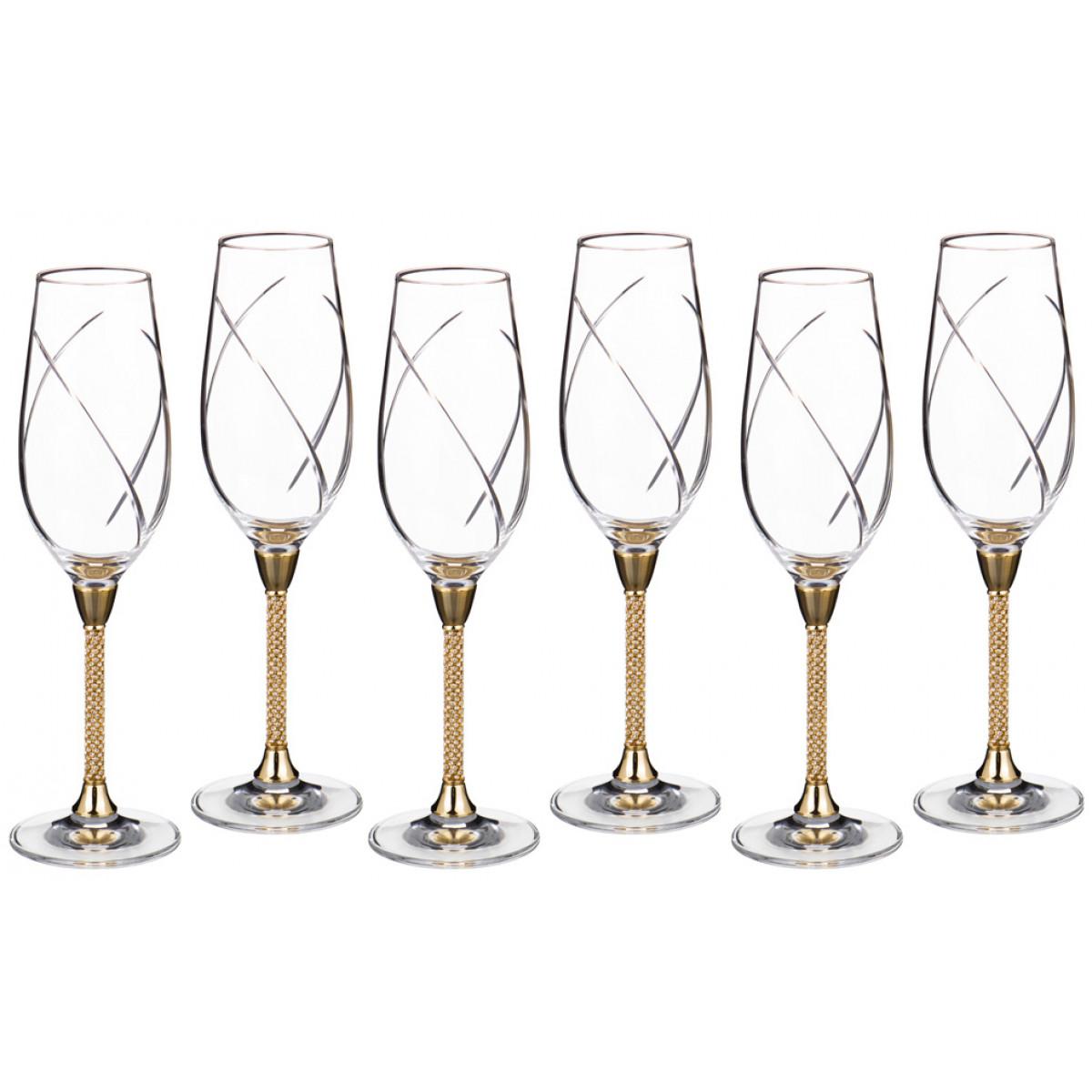набор бокалов bistro д шампанского 2шт 275мл стекло {} Claret Набор бокалов для шампанского Azalea  (25 см - 6 шт)