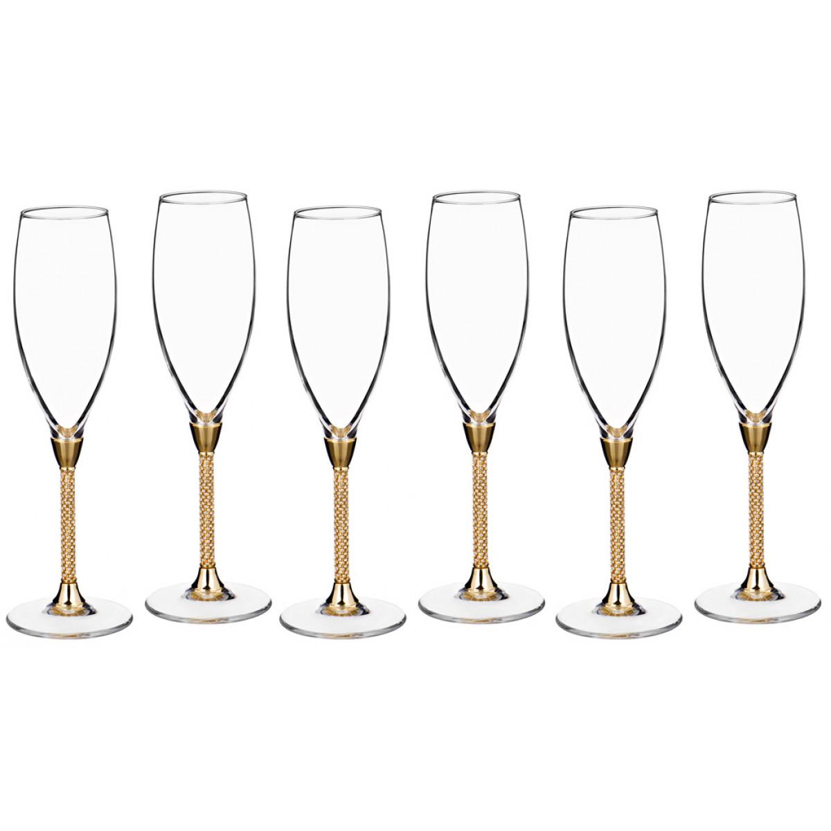 набор бокалов bistro д шампанского 2шт 275мл стекло {} Claret Набор бокалов для шампанского Lexia  (25 см - 6 шт)