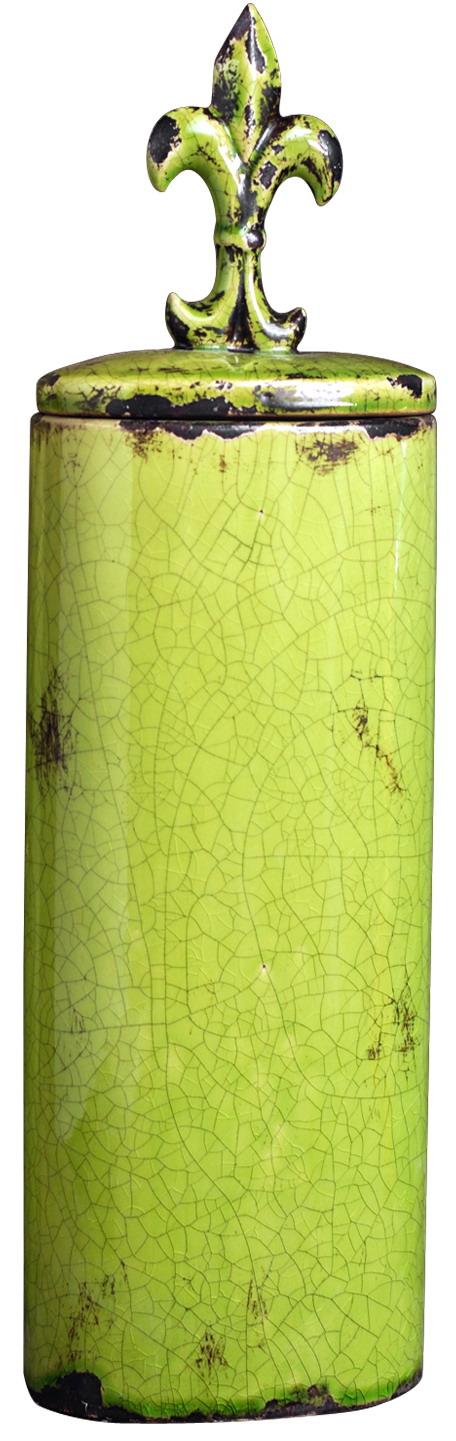 {} ARTEVALUCE Ваза с крышкой Orlenda Цвет: Зеленый (11х17х58 см) artevaluce ваза с крышкой orlenda цвет зеленый 11х17х51 см