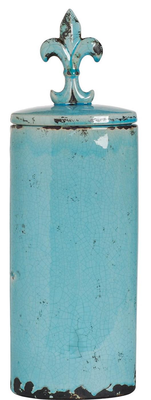 {} ARTEVALUCE Ваза с крышкой Orlenda Цвет: Голубой (11х17х51 см) ваза прямая цвет красный 51 см 2176628