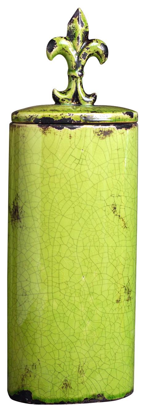 {} ARTEVALUCE Ваза с крышкой Orlenda Цвет: Зеленый (11х17х51 см) ваза прямая цвет красный 51 см 2176628