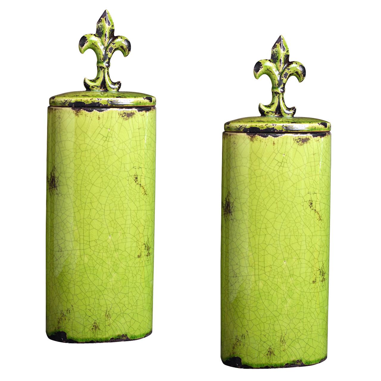 {} ARTEVALUCE Ваза с крышкой Orlenda Цвет: Зеленый (11х17х51 см - 2 шт) artevaluce ваза с крышкой orlenda цвет зеленый 11х17х51 см