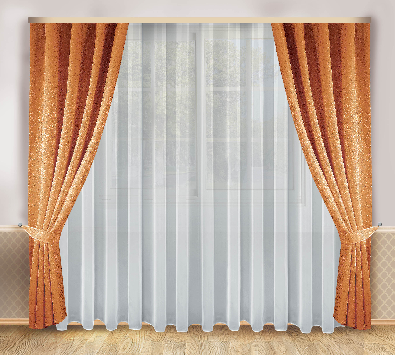 Шторы Zlata Korunka Классические шторы Lorena Цвет: Коричневый шторы kauffort классические шторы barolo