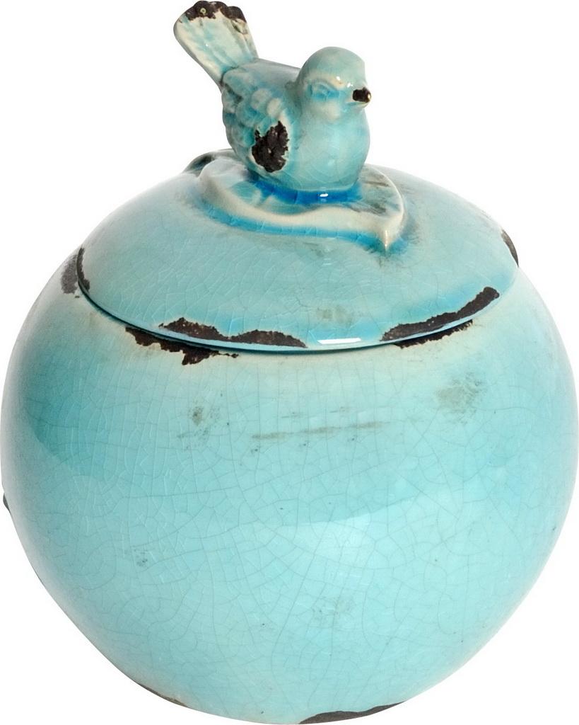 {} ARTEVALUCE Ваза с крышкой Птички Цвет: Голубой (15х18 см) artevaluce ваза с крышкой orlenda цвет зеленый 11х17х51 см