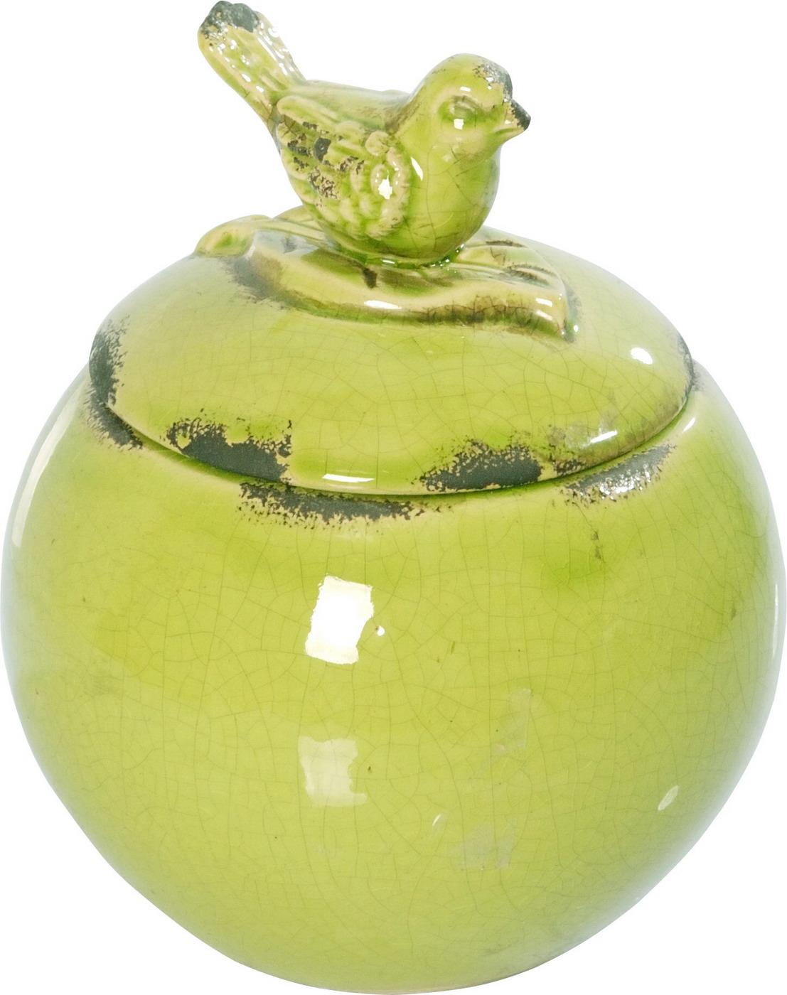 {} ARTEVALUCE Ваза с крышкой Птички Цвет: Зеленый (15х18 см) artevaluce ваза с крышкой orlenda цвет зеленый 11х17х51 см