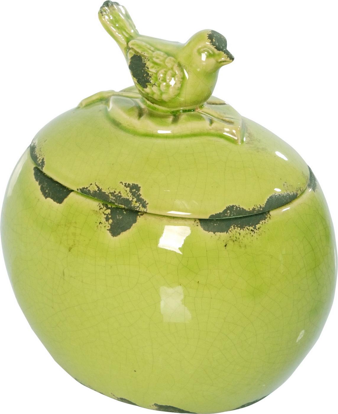 {} ARTEVALUCE Ваза с крышкой Птички Цвет: Зеленый (13х17х18 см) artevaluce ваза с крышкой orlenda цвет зеленый 11х17х51 см