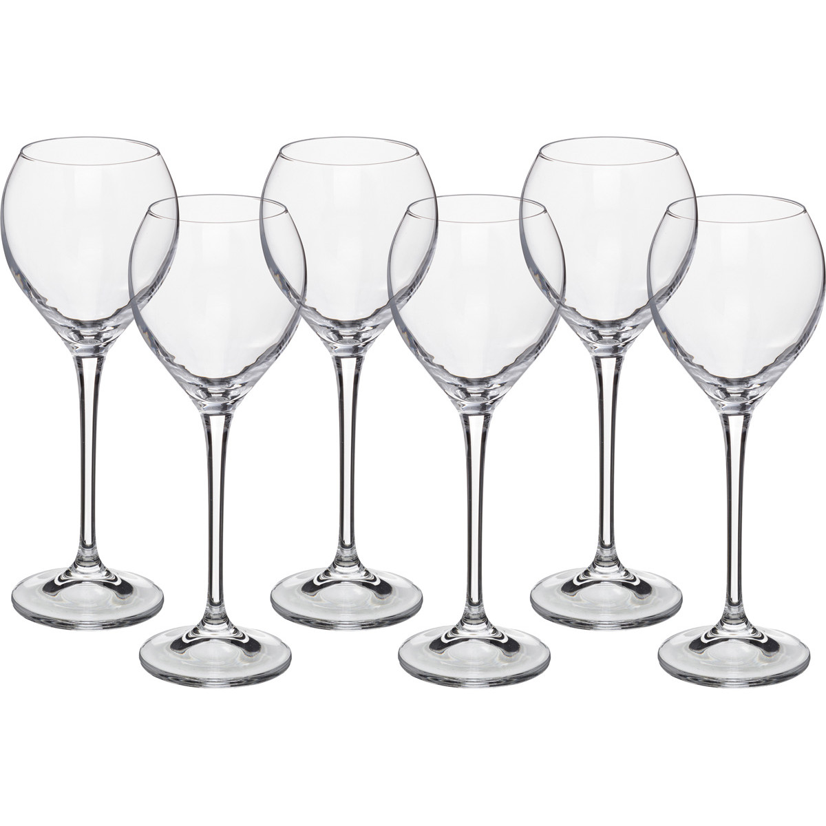 {} Crystalite Bohemia Набор бокалов для вина Nirvana (21 см - 6 шт) набор бокалов для бренди 6 шт crystalite bohemia набор бокалов для бренди 6 шт