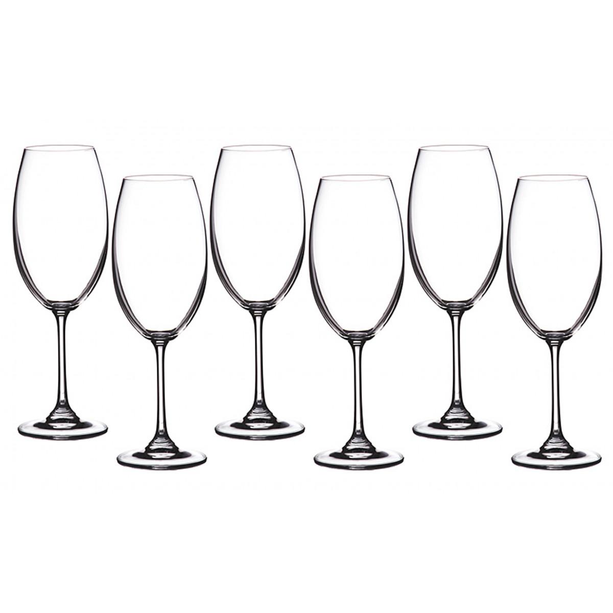 {} Crystalite Bohemia Набор бокалов для вина Gus (22 см - 6 шт) набор бокалов для бренди 6 шт crystalite bohemia набор бокалов для бренди 6 шт