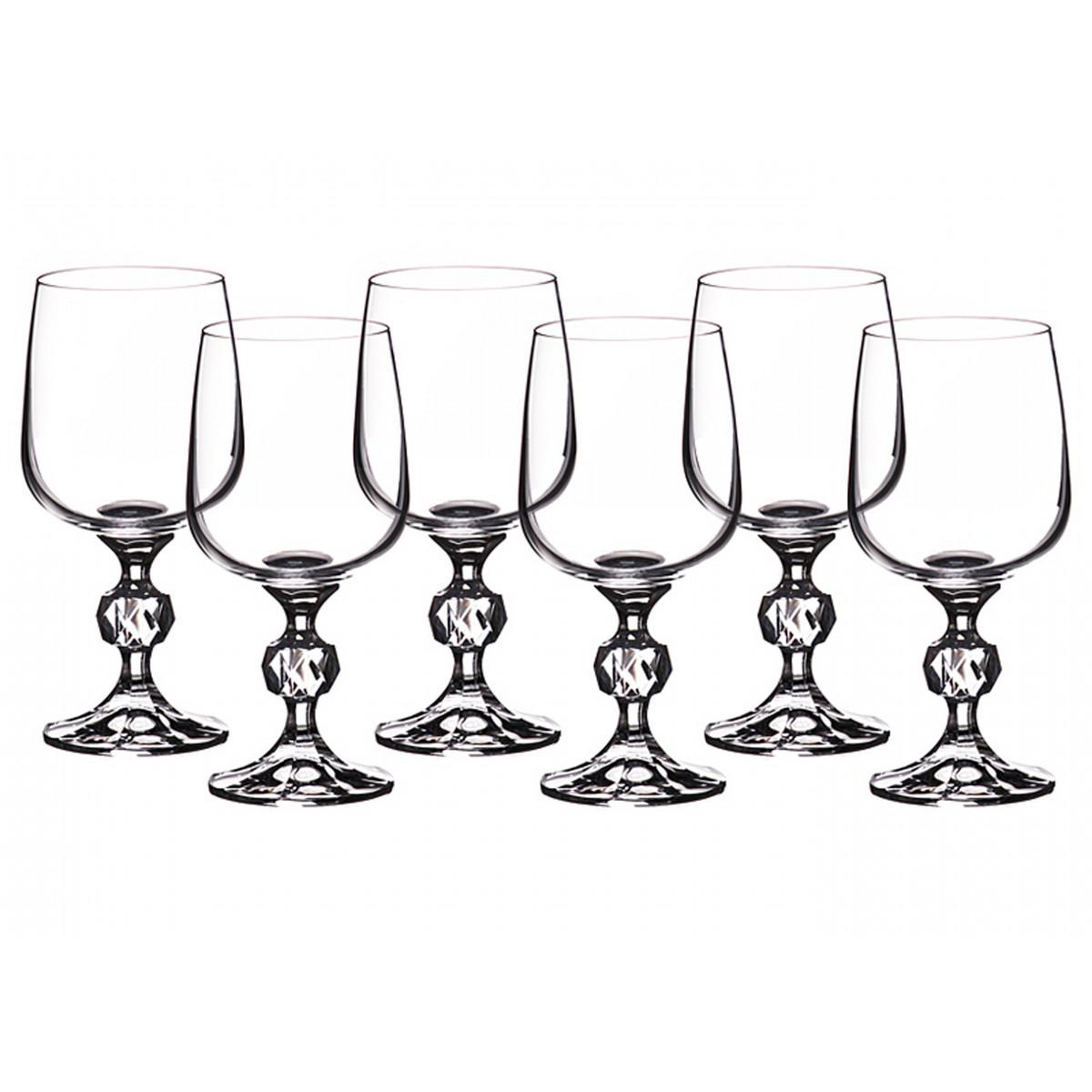 {} Crystalite Bohemia Набор бокалов для вина Keavy  (15 см - 6 шт) набор бокалов для бренди коралл 40600 q8105 400 анжела
