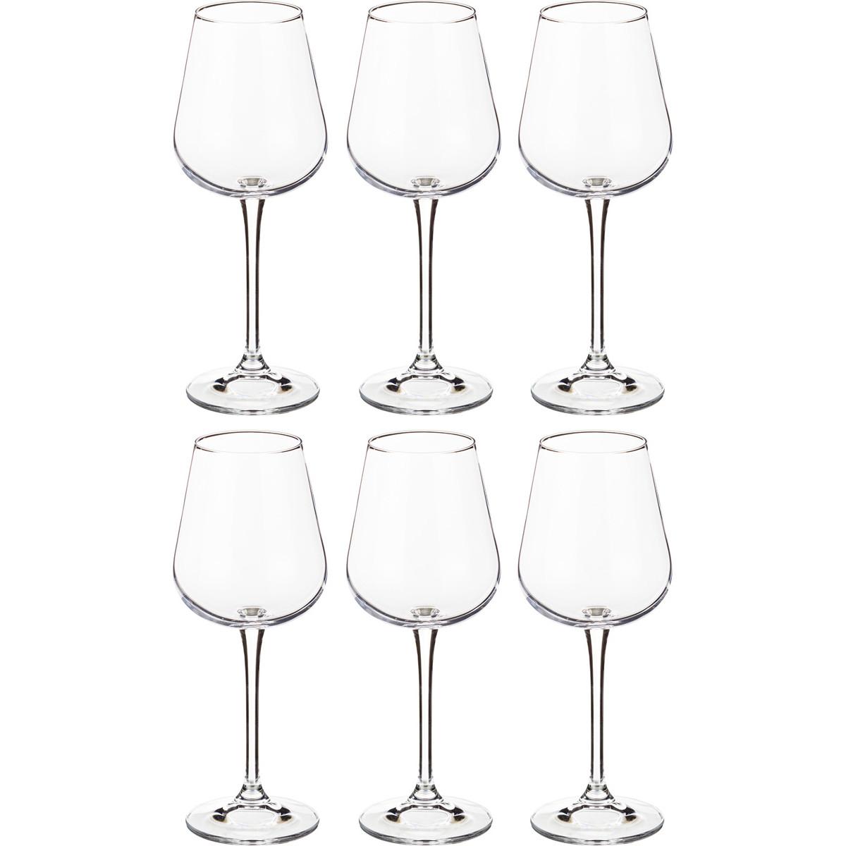 {} Crystalite Bohemia Набор бокалов для вина Storm (22 см - 6 шт) набор бокалов для бренди 6 шт crystalite bohemia набор бокалов для бренди 6 шт