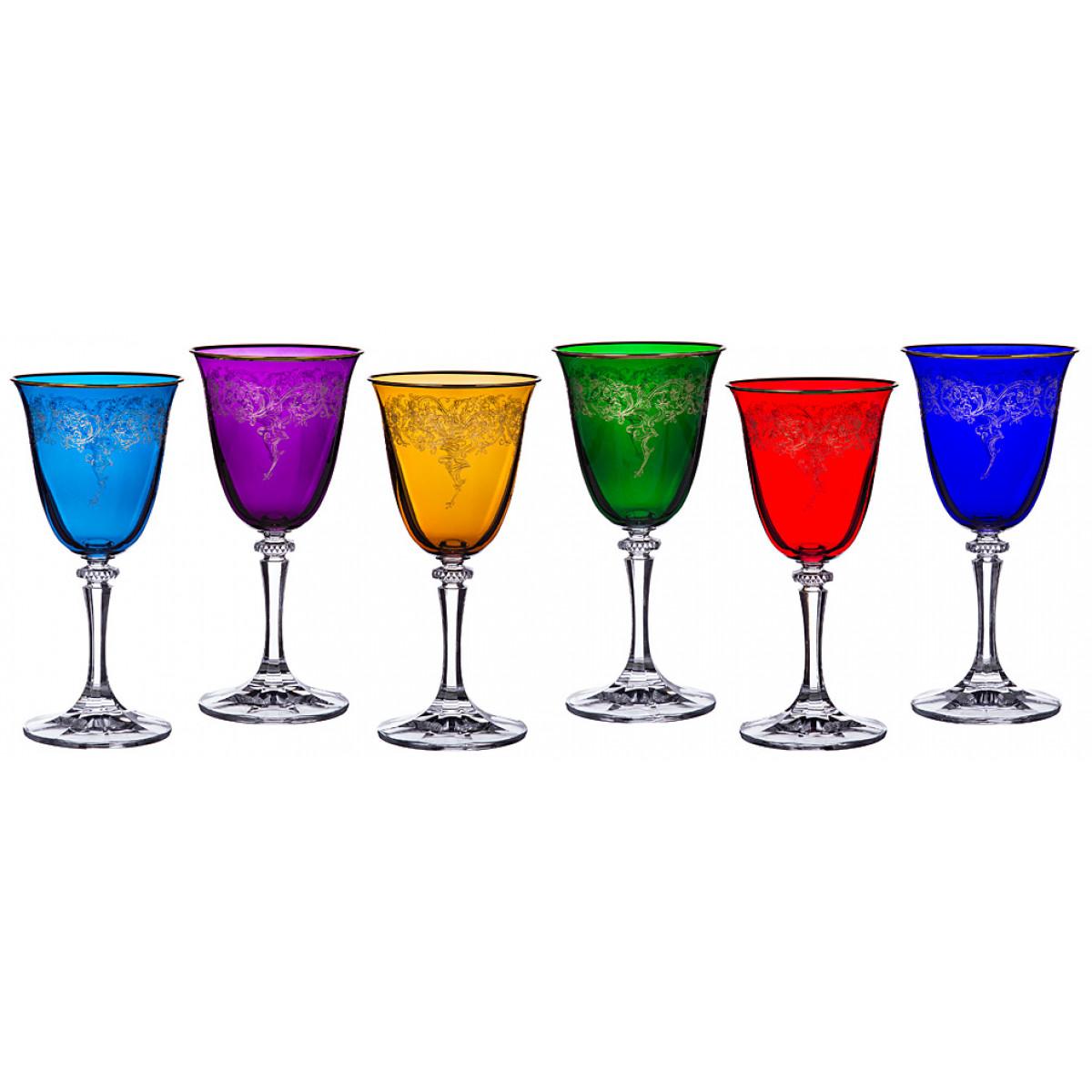 {} Crystalite Bohemia Набор бокалов для вина Uriella (18 см - 6 шт) набор бокалов для бренди 6 шт crystalite bohemia набор бокалов для бренди 6 шт