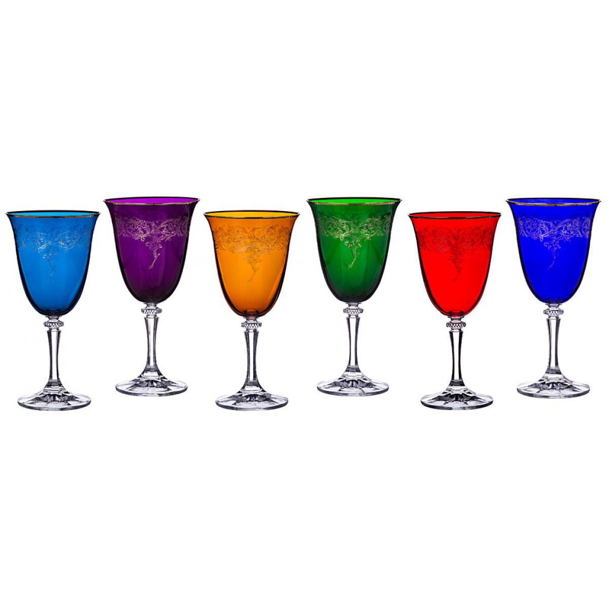 {} Crystalite Bohemia Набор бокалов для вина Peggy (20 см - 6 шт) набор бокалов для бренди 6 шт crystalite bohemia набор бокалов для бренди 6 шт