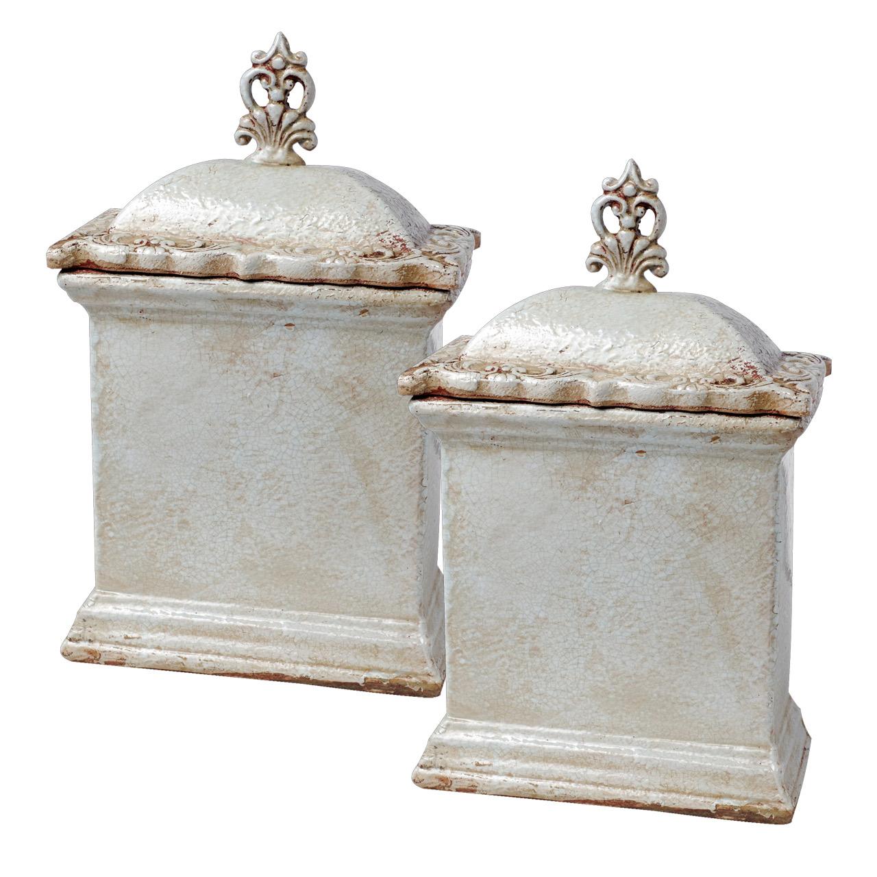 {} ARTEVALUCE Ваза с крышкой Avalona (14х25х43 см - 2 шт) artevaluce ваза с крышкой orlenda цвет зеленый 11х17х51 см