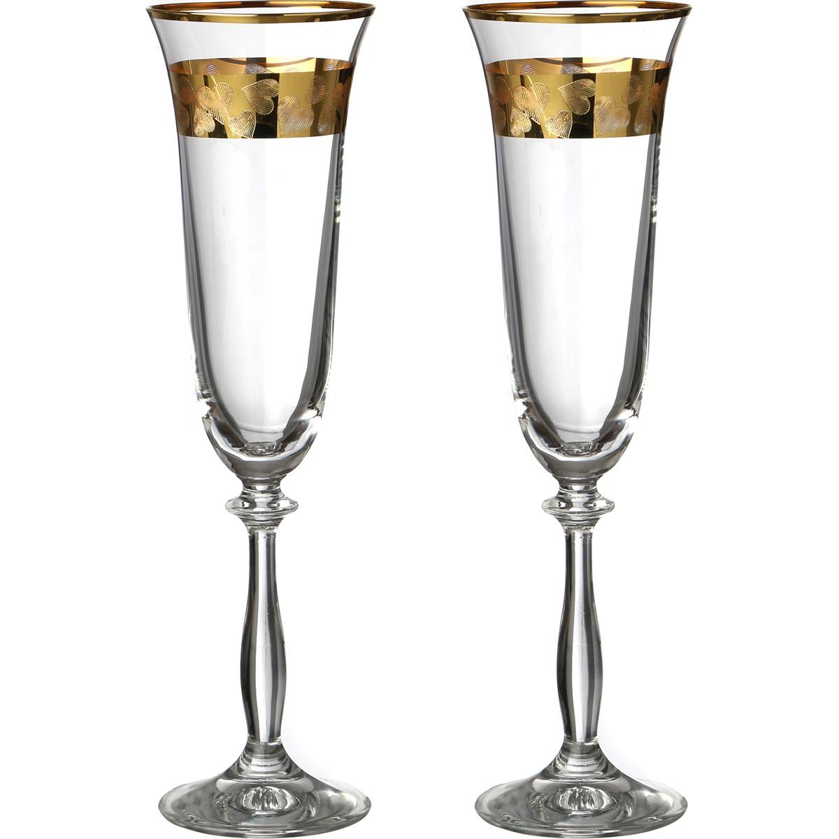{} Bohemia Crystal Набор бокалов для шампанского Allister  (25 см - 2 шт) crystal bohemia