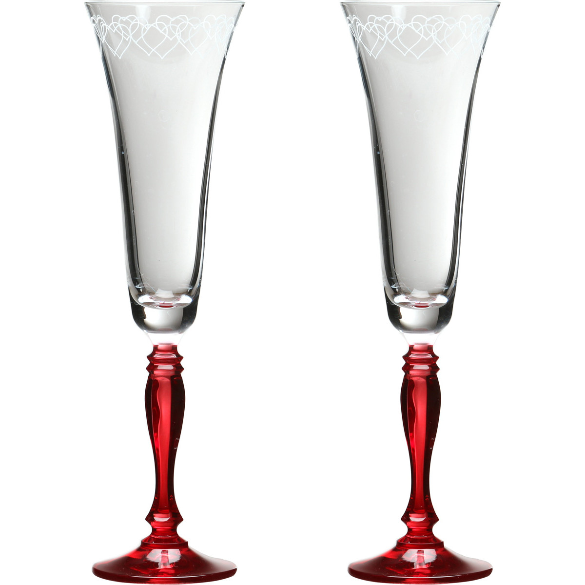 {} Bohemia Crystal Набор бокалов для шампанского Boaz  (25 см - 2 шт) crystal bohemia