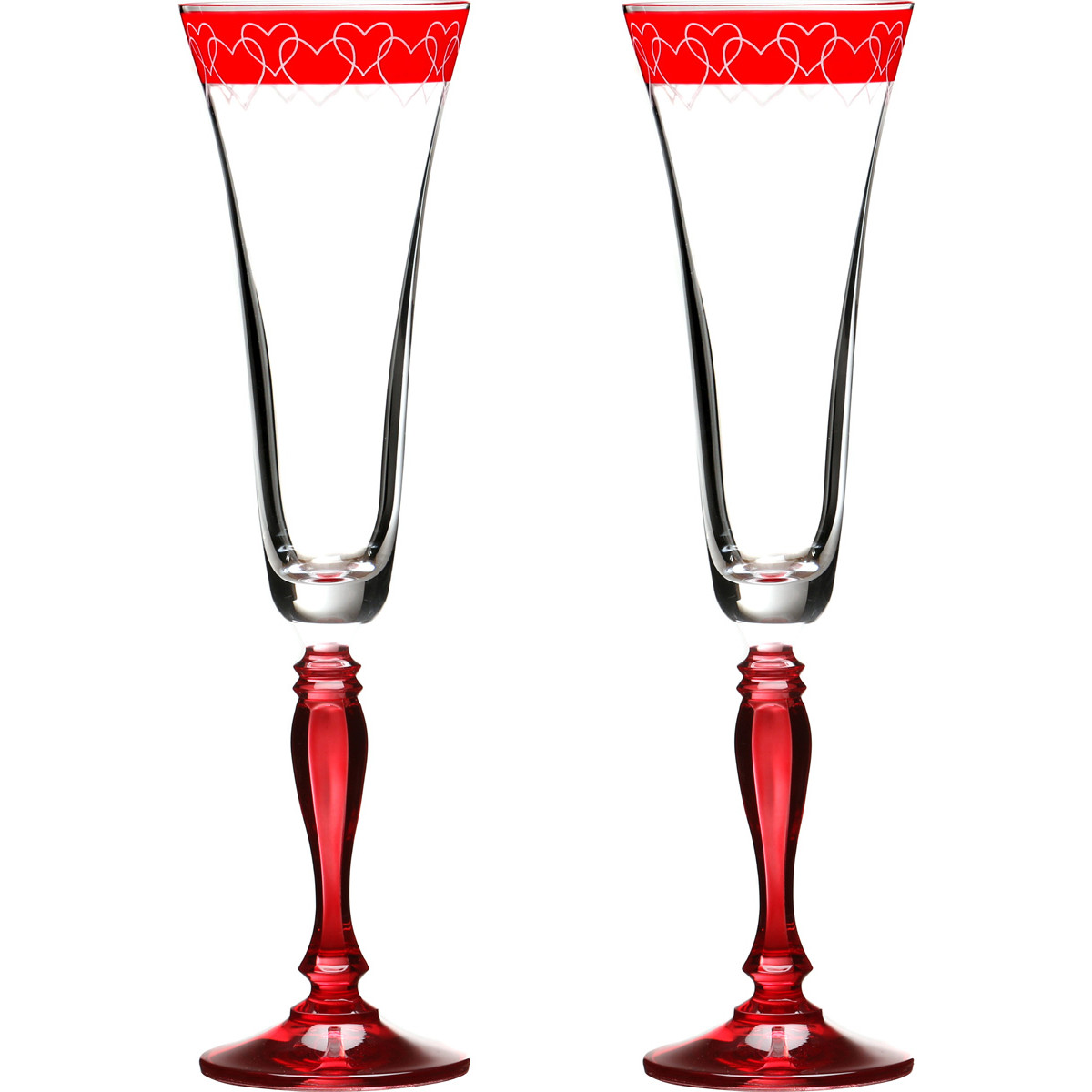 {} Bohemia Crystal Набор бокалов для шампанского Felina  (25 см - 2 шт) crystal bohemia