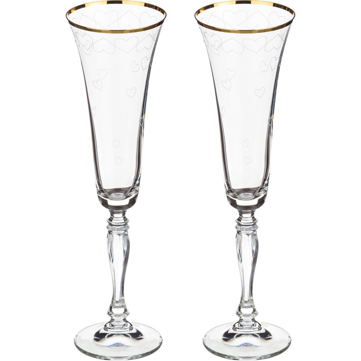 {} Bohemia Crystal Набор бокалов для шампанского Milly (25 см - 2 шт) bohemia crystal набор бокалов для шампанского felina 25 см 2 шт
