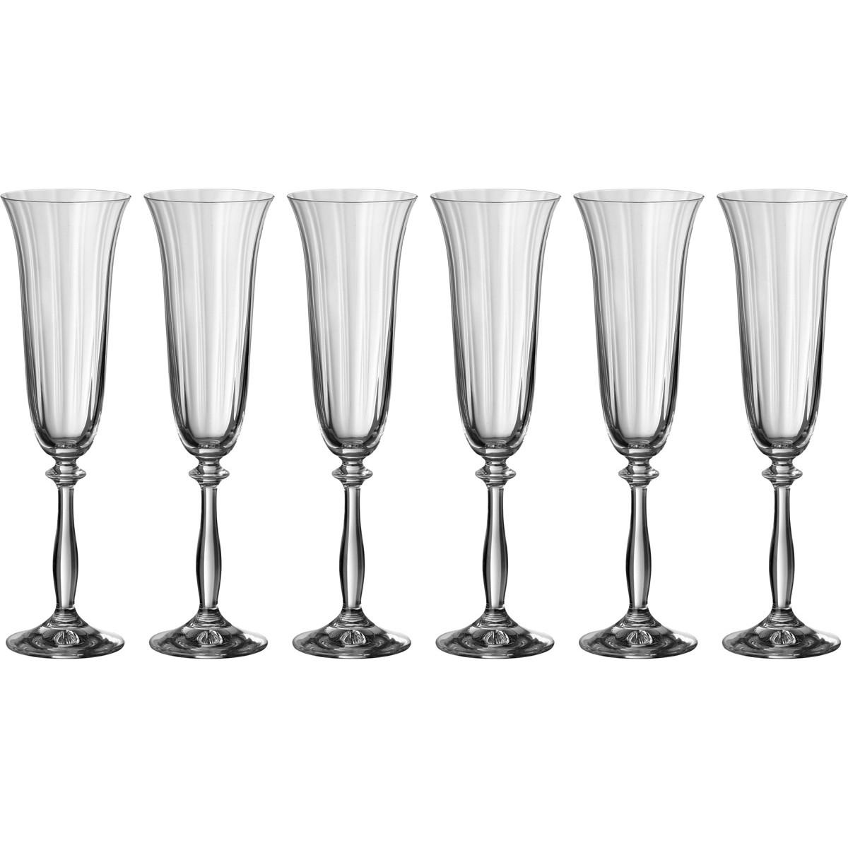 {} Bohemia Crystal Набор бокалов для шампанского Darlene  (24 см - 6 шт) crystal bohemia