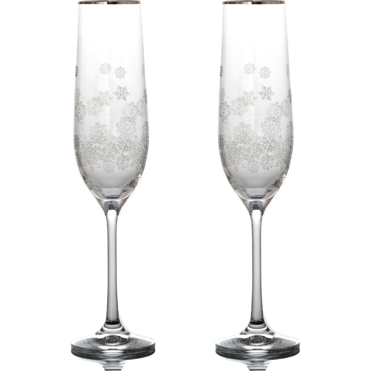 {} Bohemia Crystal Набор бокалов для шампанского Tansy  (24 см - 2 шт) crystal bohemia