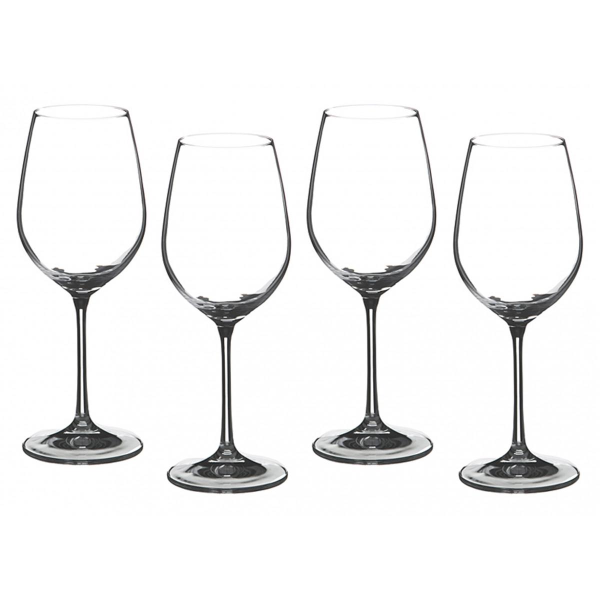 {} Bohemia Crystal Набор бокалов для вина Claud  (23 см - 4 шт) набор для кофе crystal bohemia mokko 4 предмета