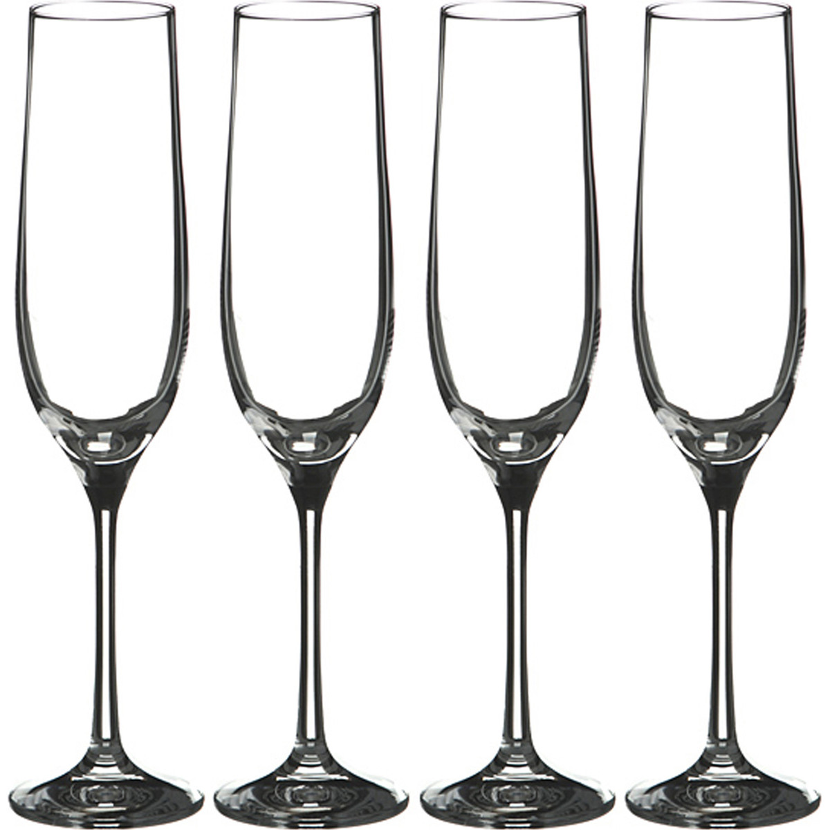 {} Bohemia Crystal Набор бокалов для шампанского Cora  (24 см - 4 шт) crystal bohemia