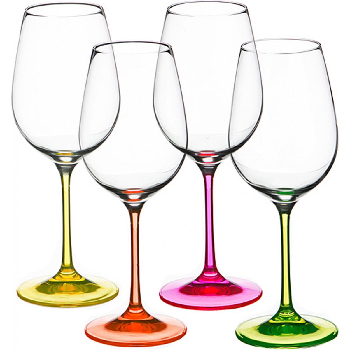 {} Bohemia Crystal Набор бокалов для вина Alma (22 см - 4 шт) bohemia crystal набор бокалов для шампанского felina 25 см 2 шт