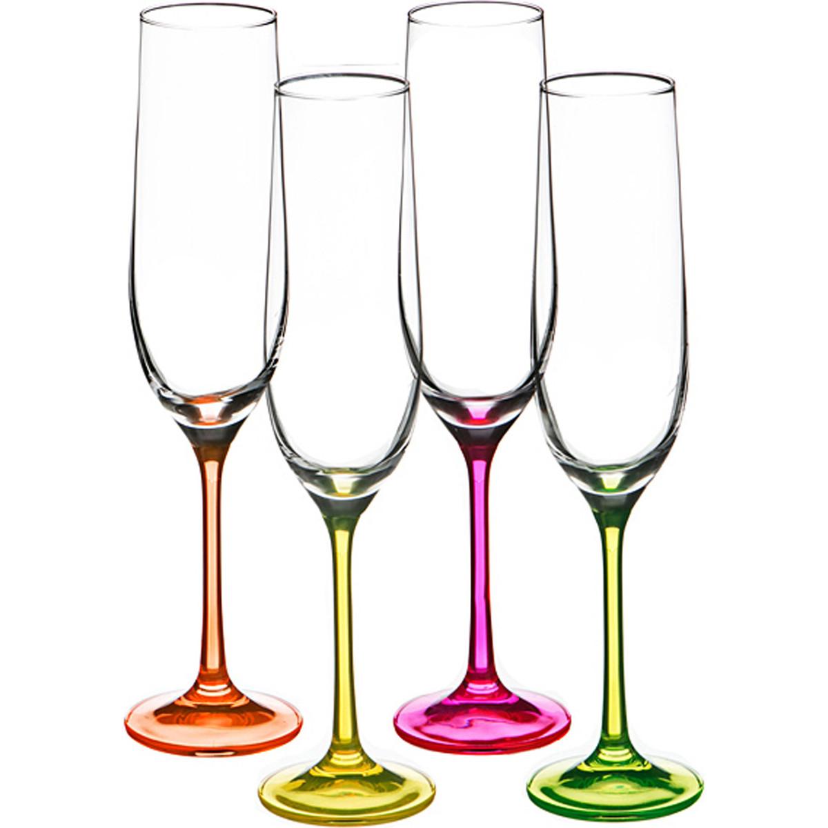 {} Bohemia Crystal Набор бокалов для шампанского Cedar  (24 см - 4 шт) crystal bohemia
