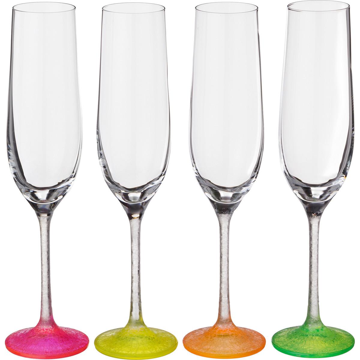 {} Bohemia Crystal Набор бокалов для шампанского Bambie  (24 см - 4 шт) crystal bohemia