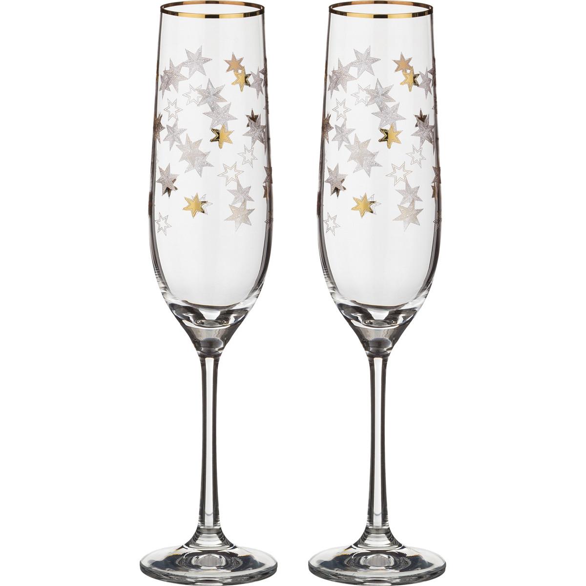 {} Bohemia Crystal Набор бокалов для шампанского Pneuma (24 см - 2 шт) bohemia crystal набор бокалов для шампанского felina 25 см 2 шт