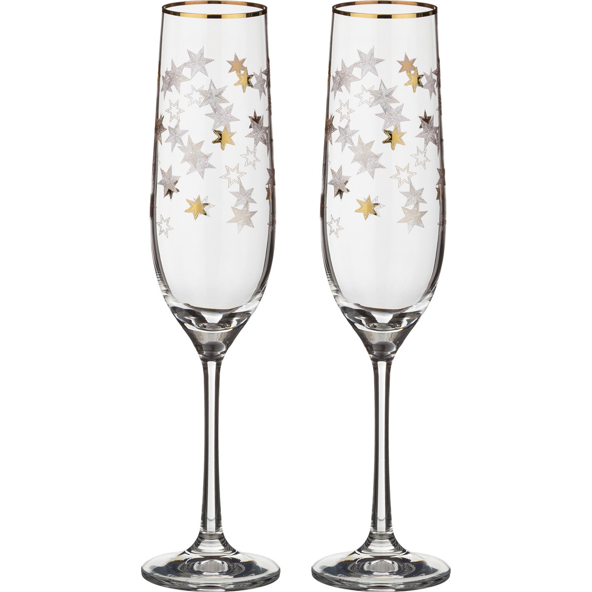 {} Bohemia Crystal Набор бокалов для шампанского Pneuma  (24 см - 2 шт) crystal bohemia