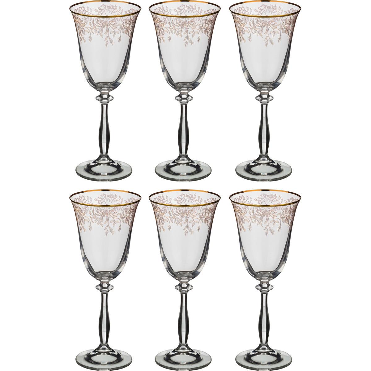 {} Bohemia Crystal Набор бокалов для вина Olivia  (22 см - 6 шт) crystal bohemia