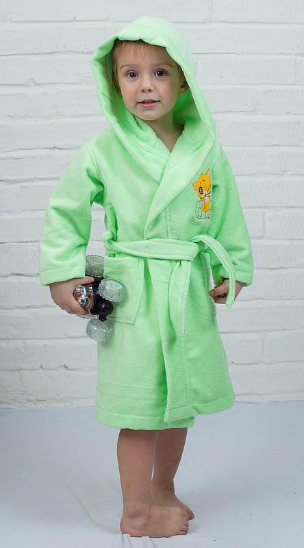 Детские халаты Five Wien Детский халат Малыш Цвет: Салатовый (4-6 лет) халаты домашние лори халат