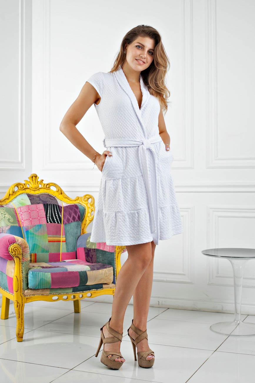 Домашние халаты Five Wien Домашний халат Angel Цвет: Белый (L-хL) халаты домашние лори халат